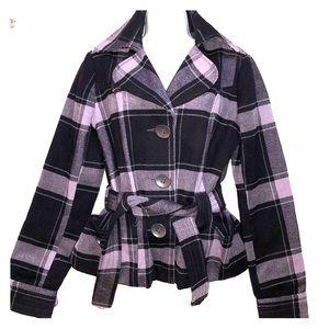 Full Tilt flannel coat with strap